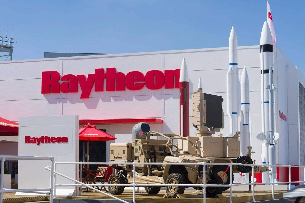 Front view of Raytheon Building