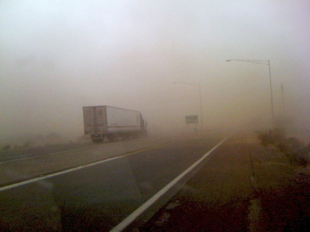 I-10 dust storm near Toltec