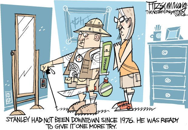 Daily Fitz Cartoon: Downtown