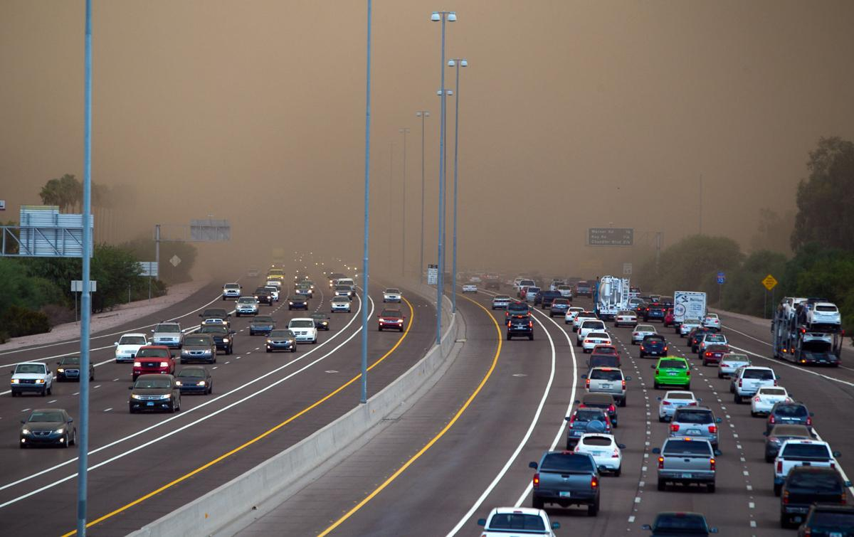 Dust storms along I-10