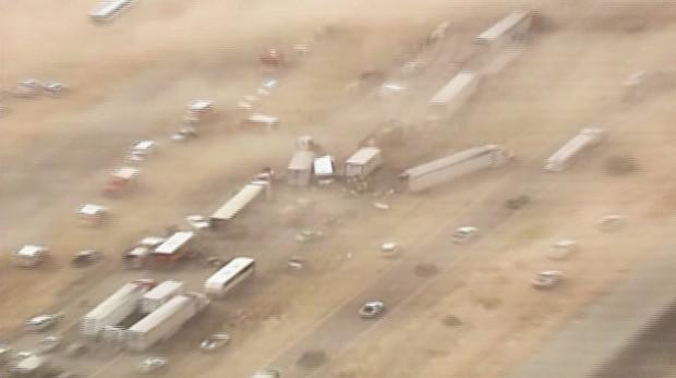 3 dust-storm pileups leave tangled I-10 horror