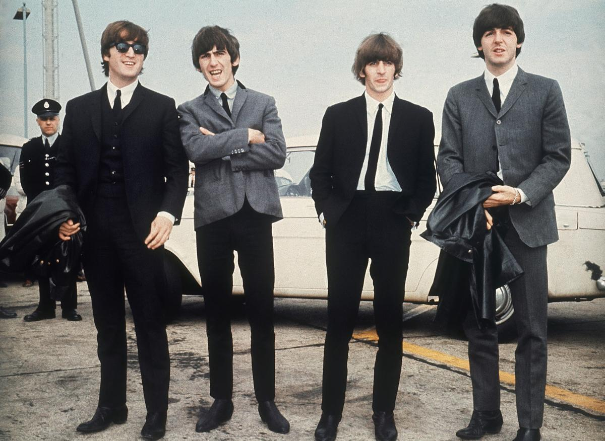 The Beatles travel the United States in 1964