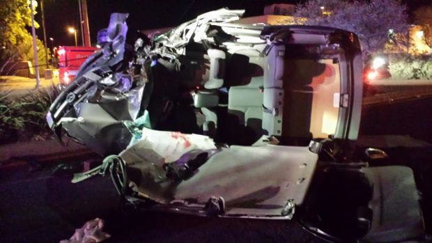 'Jaws of Life' remove person trapped in car after Tucson crash