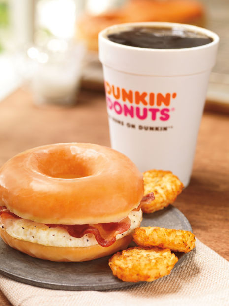 Dunkin' going national with glazed doughnut bacon sandwich
