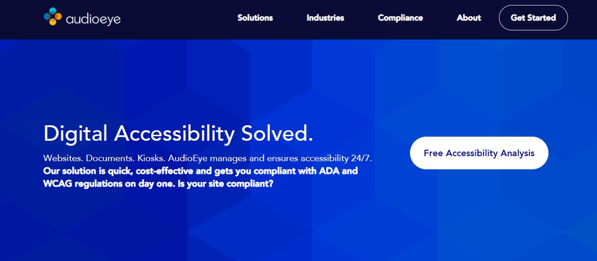 AudioEye homepage