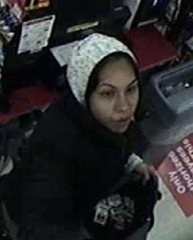 Female robbery suspect
