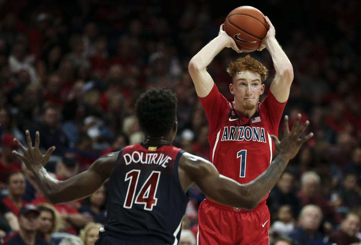 Nico Mannion is a likely lottery pick in the 2020 NBA Draft.  (Photo: Josh Galemore/Arizona Daily Star, via tucson.com.)
