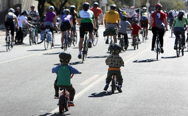 Cyclists roll out for 'Ride On, Tucson'