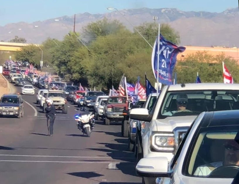 Tucson puts brakes on motorcycle escorts for Trump car parades