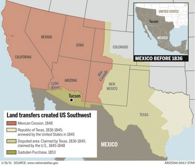 Key Parts Of Famed Treaty With Mexico Set For Display Local News - Us map with mexico before