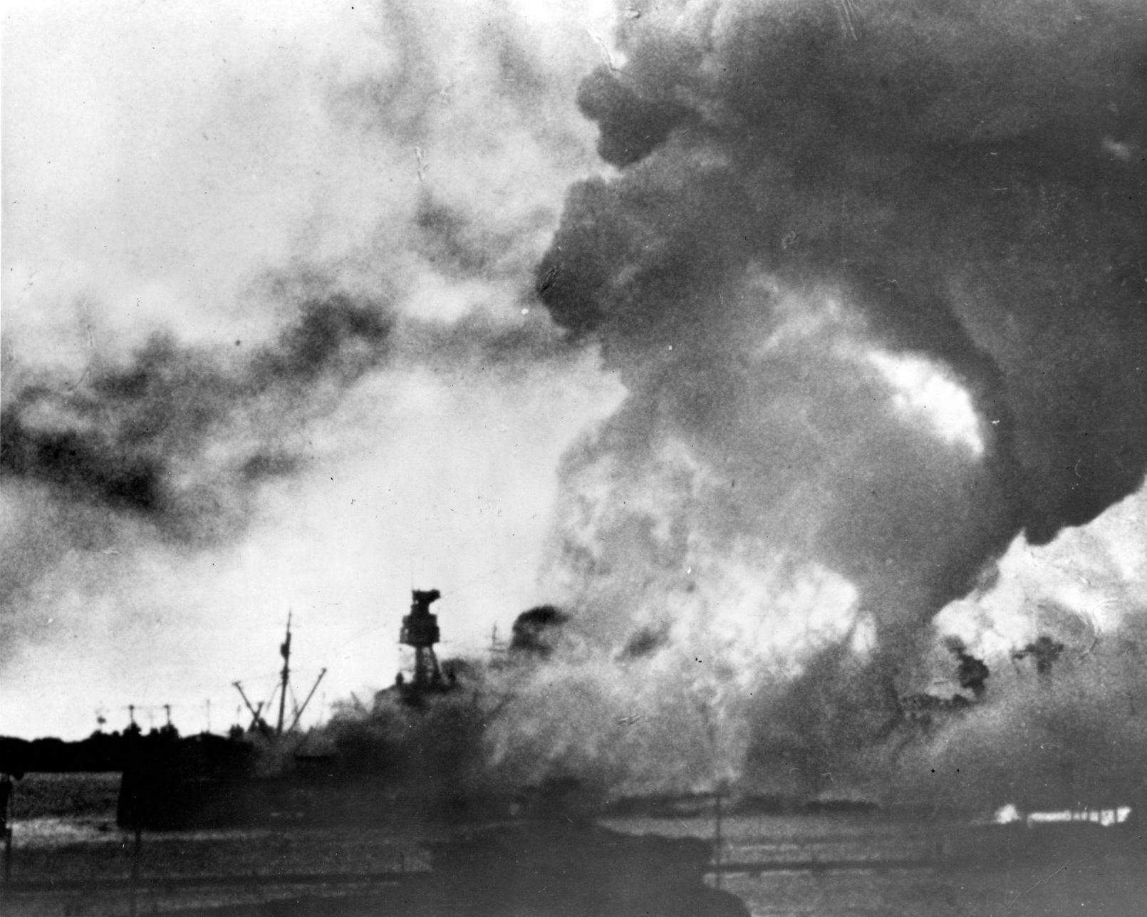 Japanese battleship in the sea, 1930s 43