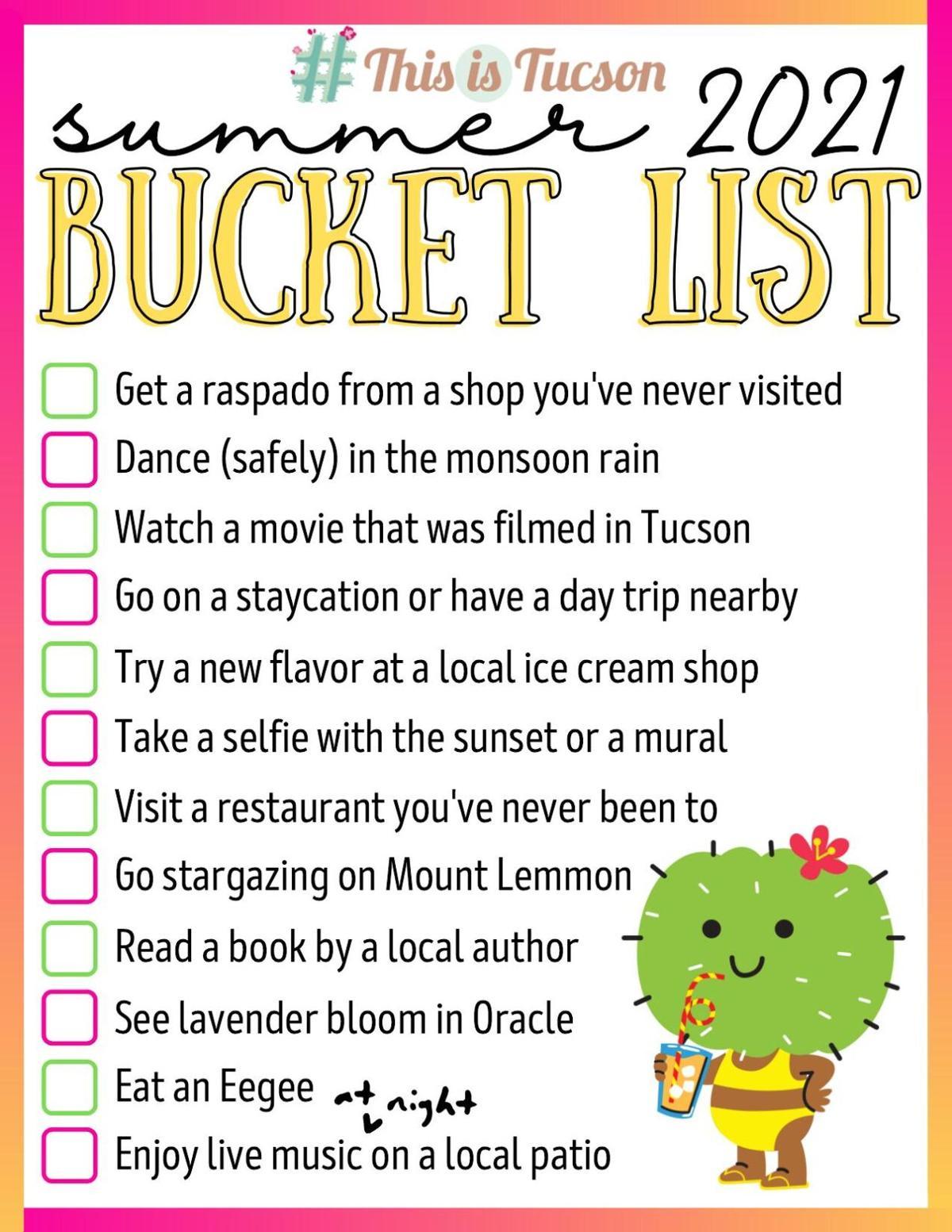 Summer 2021 Bucket List