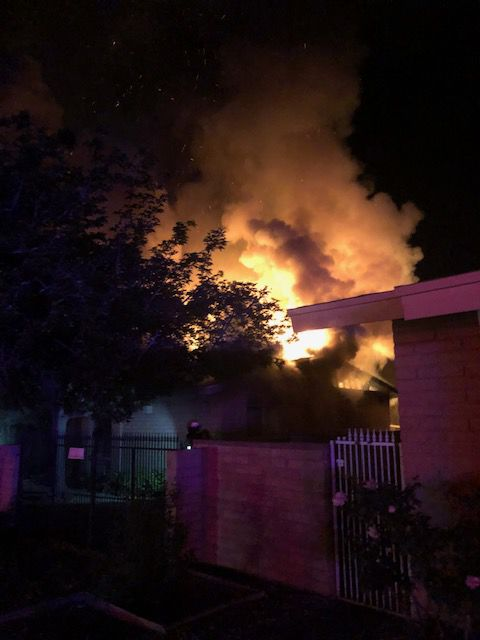 Tuesday morning house fire on the east side