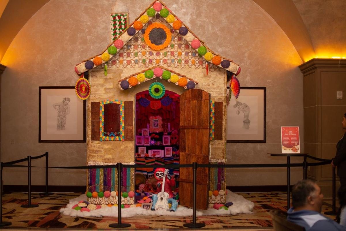 """Life-Size """"Coco"""" Themed Gingerbread House"""