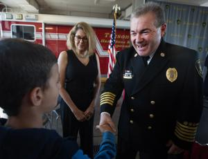 Photos: Badge Pinning Ceremony for new Tucson Fire Dept. Chief