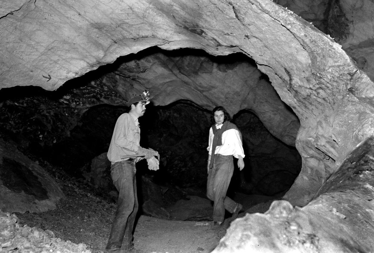 Peppersauce Cave in 1948