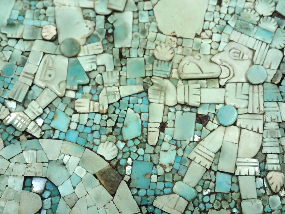 Turquoise mosaic tiles