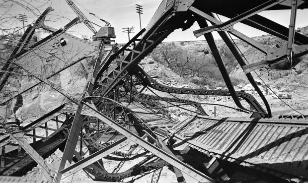 Southern Pacific bridge demolition