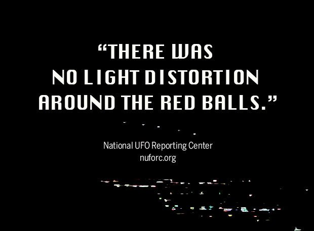 There was no light distortion around the red balls
