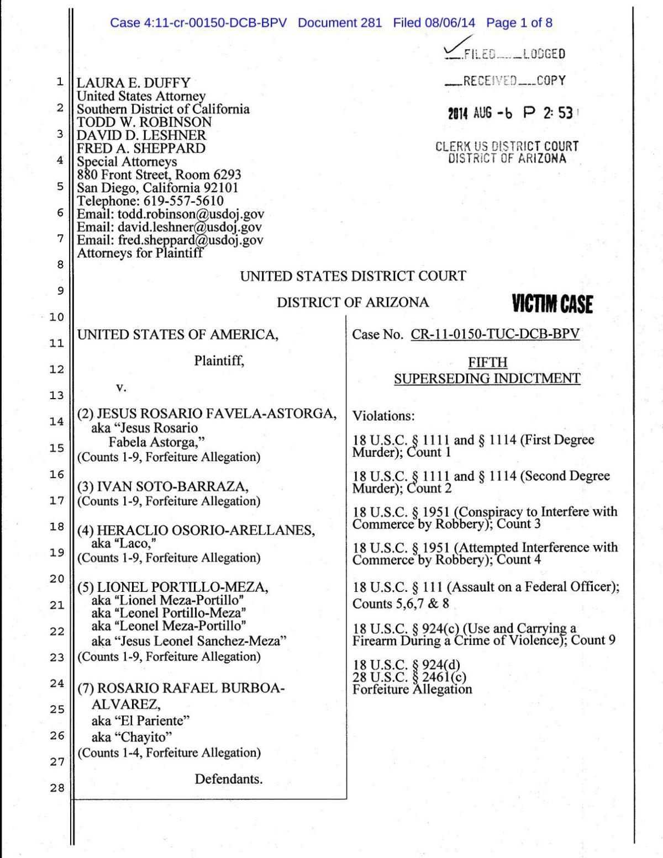 Indictment of Heraclio Osorio-Arellanes