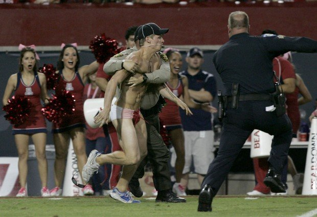 UA streaker was plumping his creds for TV game show