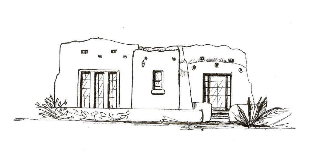 Pueblo Revival style house