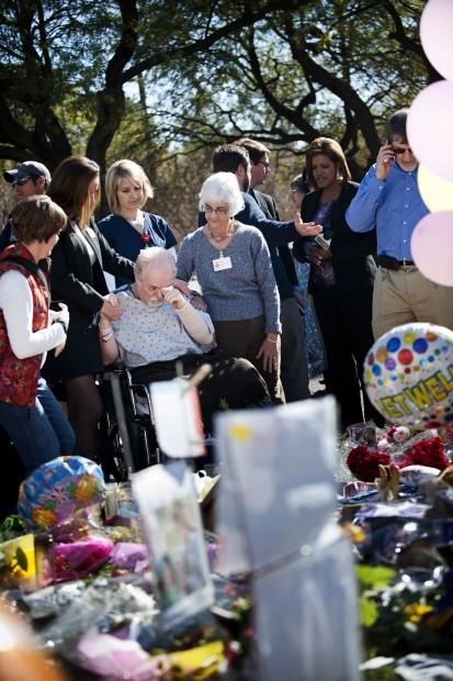 Shooting victim Barber visits UMC memorial