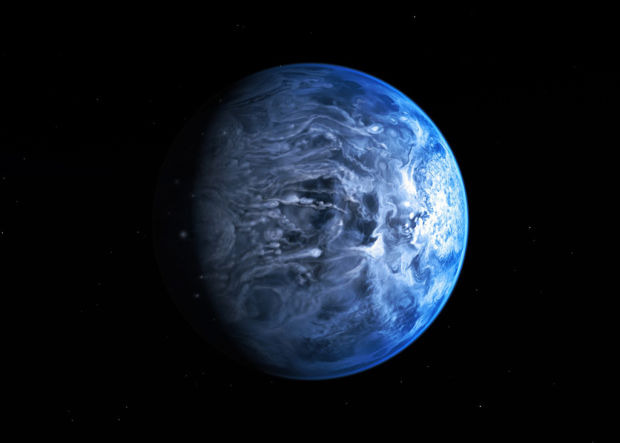 Planet is blue, Hubble shows - but not the blue we know