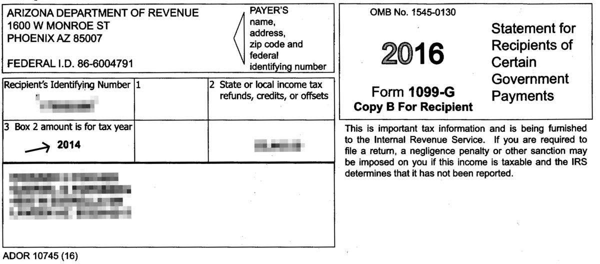 1099 form arizona  Arizona sent out wrong state refund tax forms to 17,17 ...