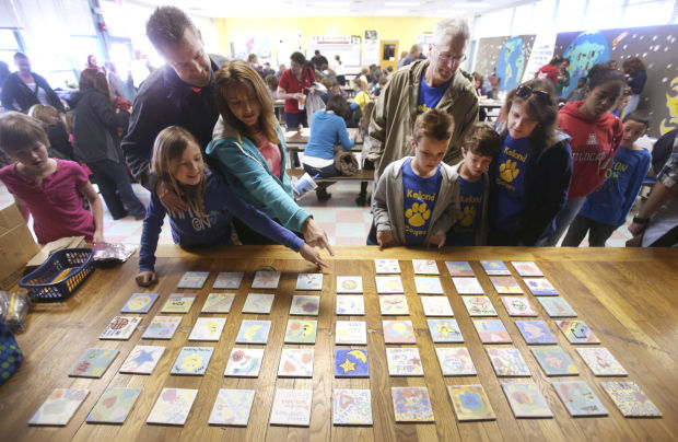 Kellond Elementary School Family Tile Art Project