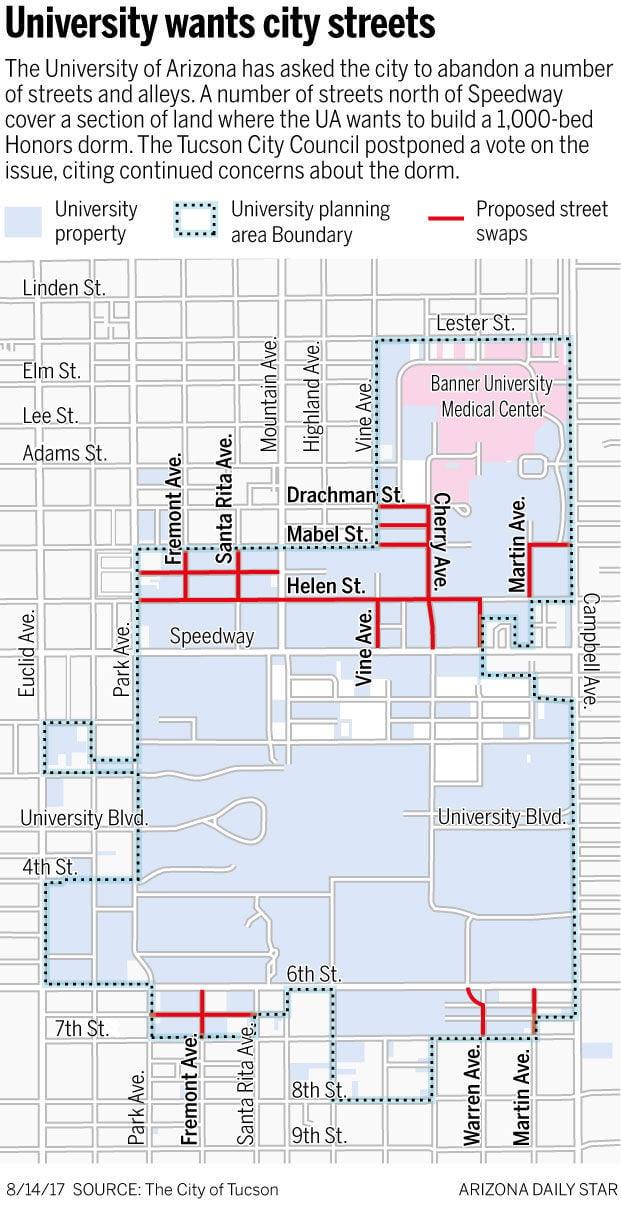 University wants city streets