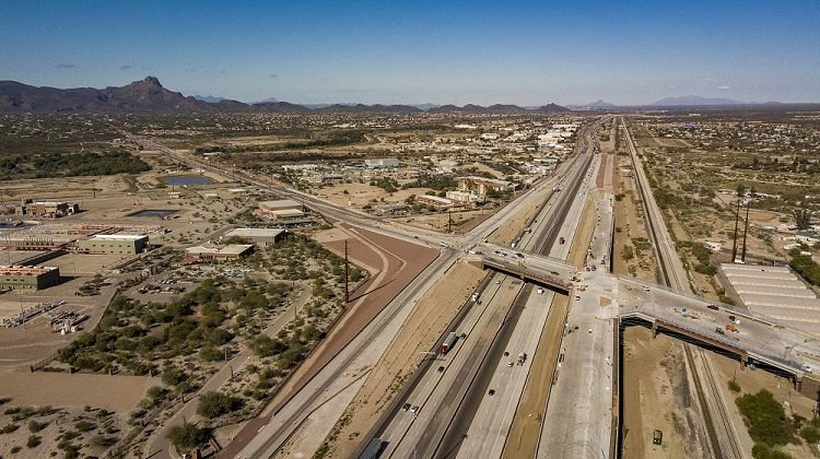 Drone photo of Ina Road I-10 Interchange