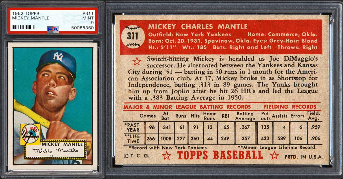 Mickey Mantles Worth Is Gaining Ground On Honus Wagners Value