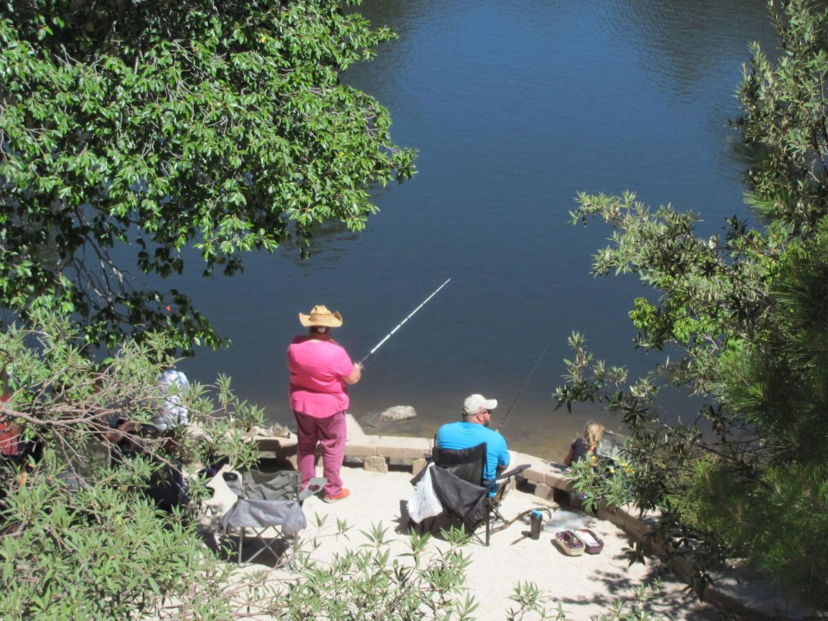 Anglers at Rose Canyon Lake