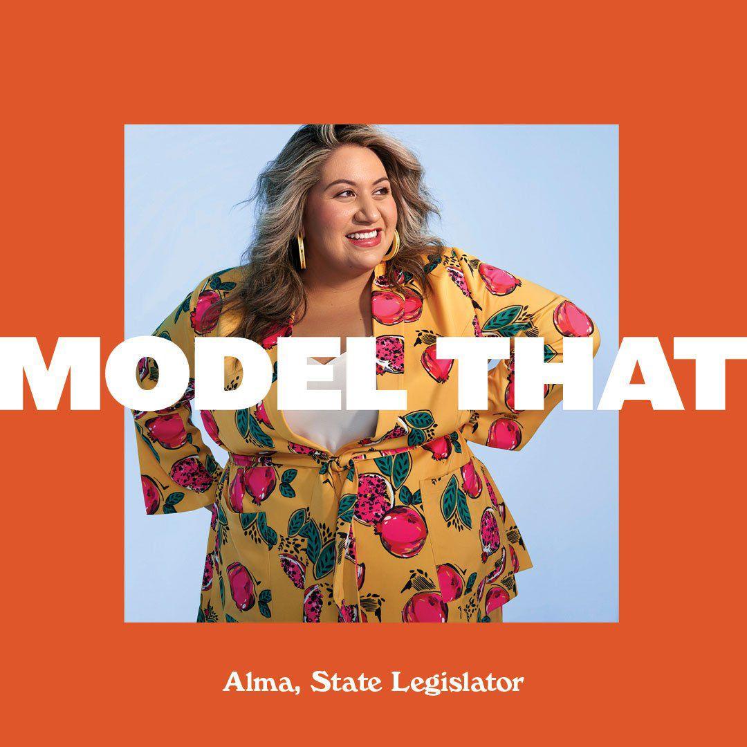 State Rep.and model Alma Hernandez