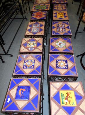 lawn art wrought iron tile tables.JPG