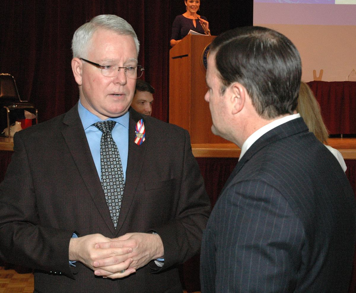 County Attorney Bill Montgomery with Gov. Doug Ducey
