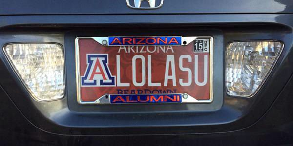 Arizona State License Plate >> Arizona MVD: License plate LOLing ASU is OK   Local news ...