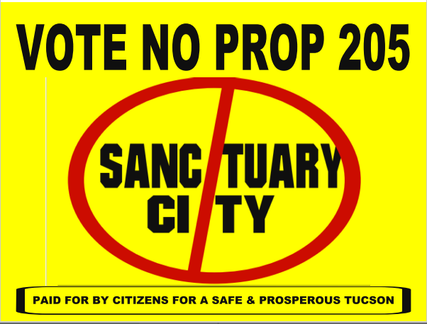 Citizens for a Safe & Prosperous Tucson sign
