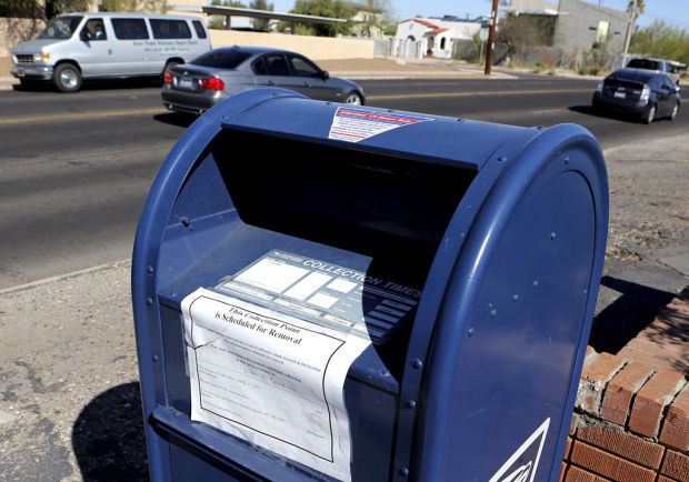 1 in 10 big blue mailboxes will leave