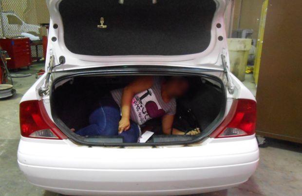 Woman in trunk