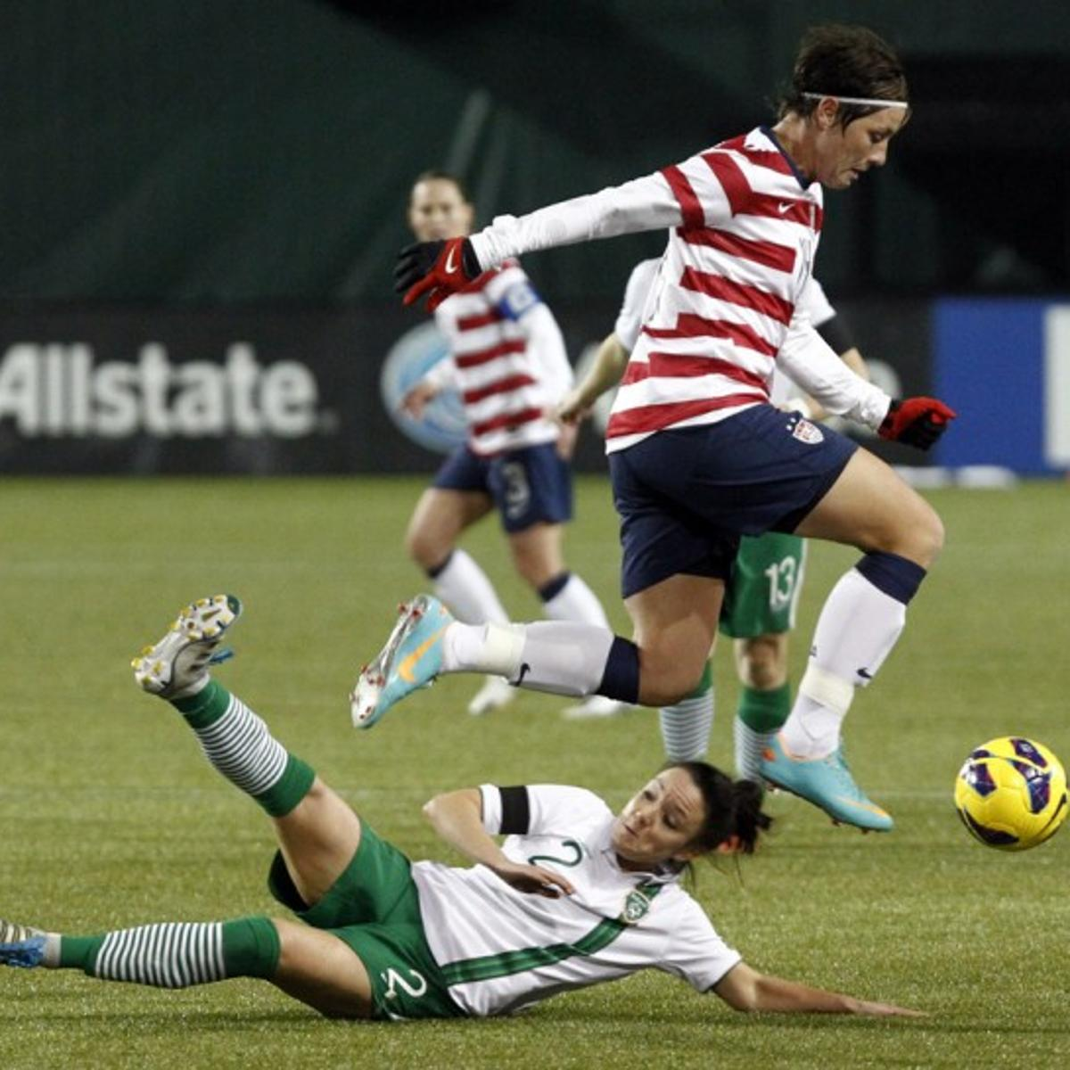 08d13bb5a01 Women's soccer: USA 5, Ireland 0: Morgan scores hat trick in 1st half
