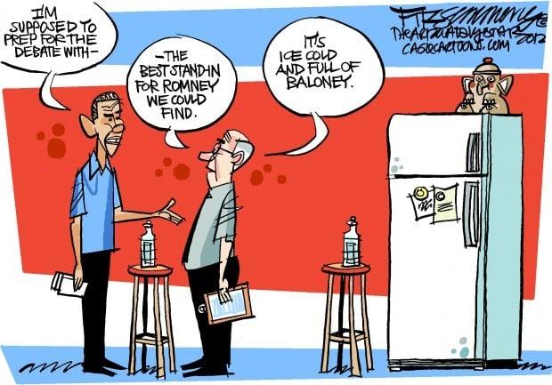 Daily Fitz Cartoon: Debate prep