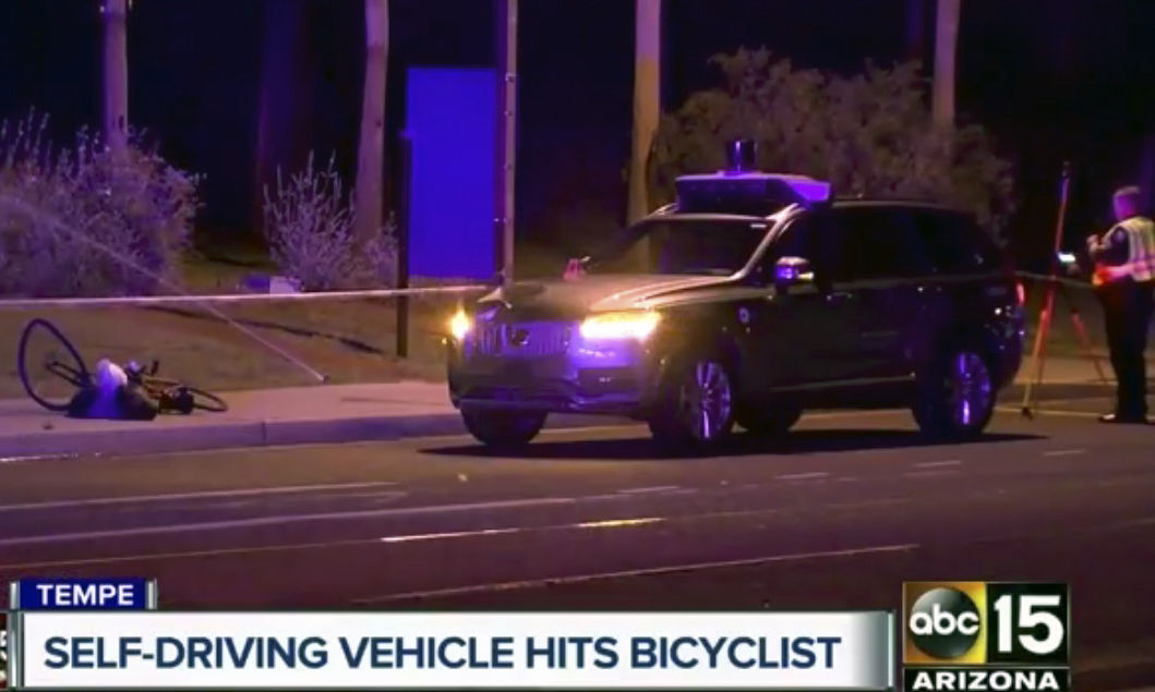 Arizona woman struck and killed by self-driving Uber vehicle