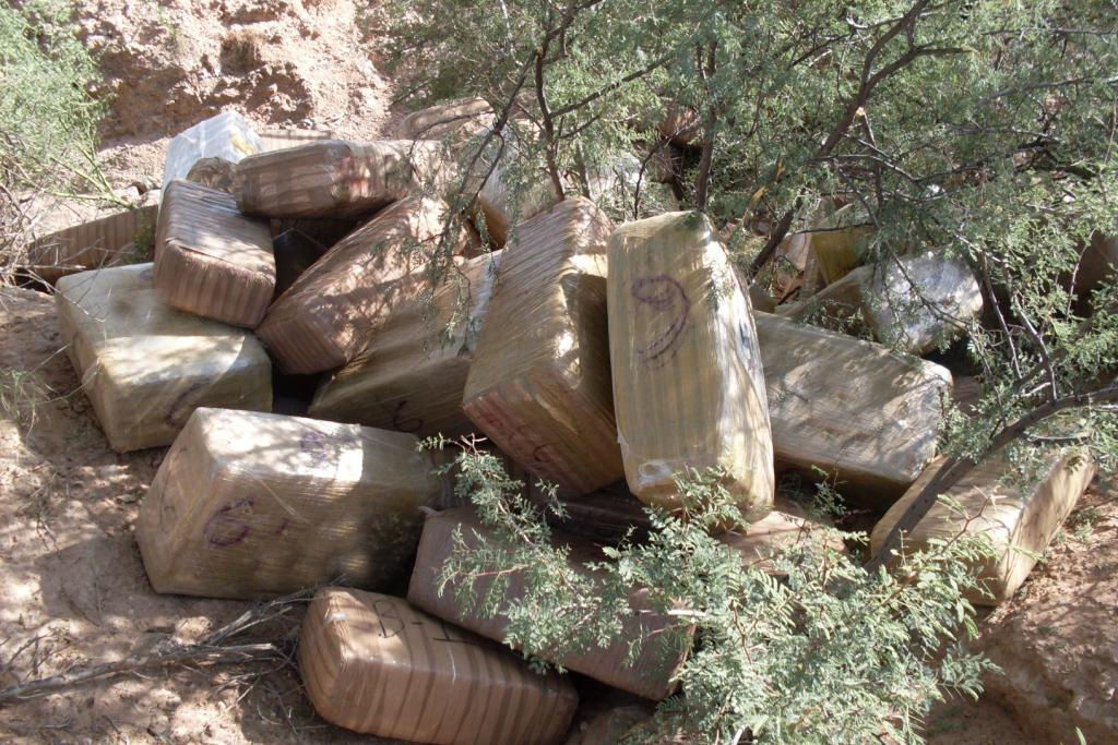 Marijuana bales in 2012