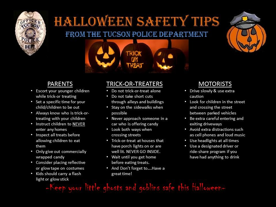 TPD Halloween Safety Tips