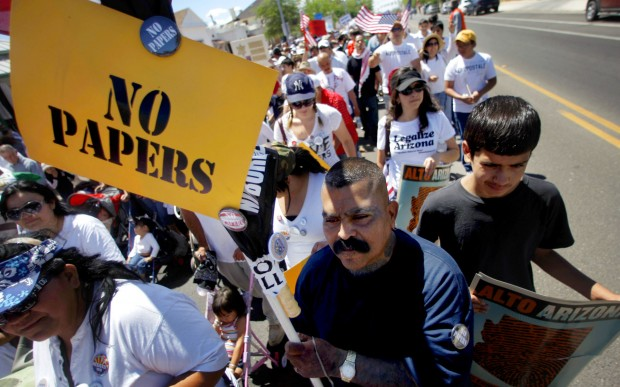 7,000 march to oppose new immigration law