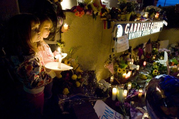 Vigil for Rep. Giffords and shooting victims