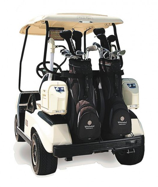 Air Conditioned Golf Carts Hitting The Greens Golf