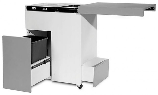 This kitchen island also is recycling center | Home & Garden ...